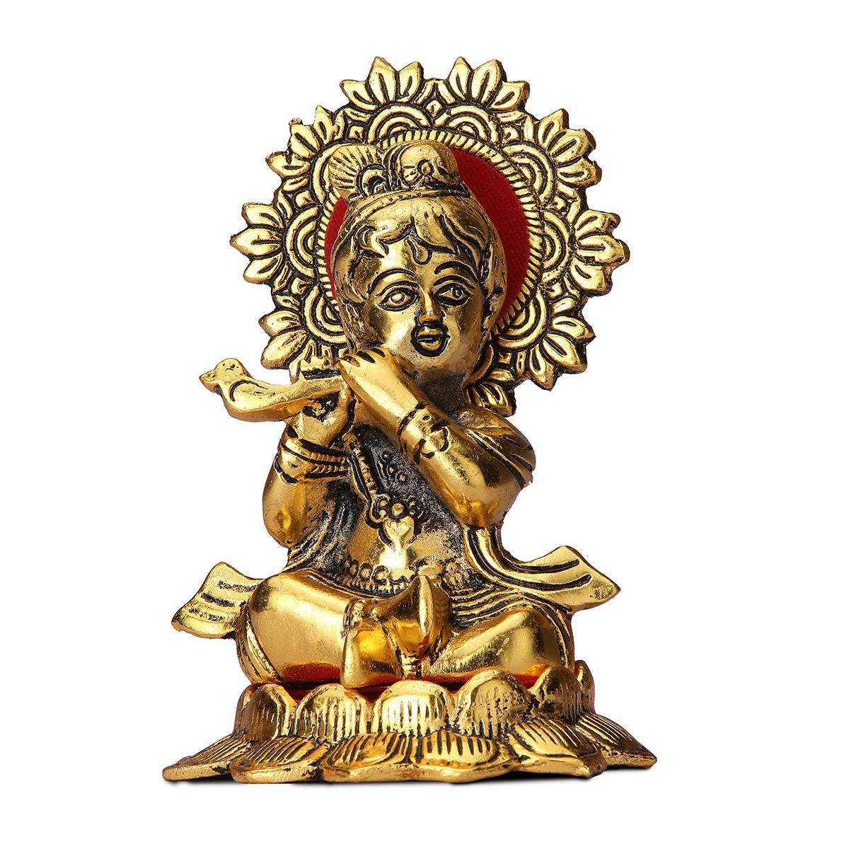 Gold Plated Bal Krishna Statue