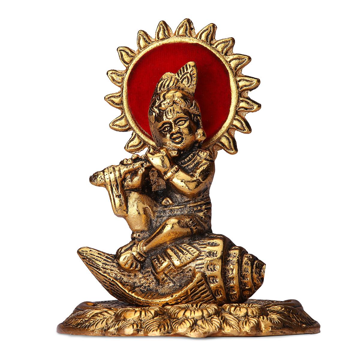 Gold Plated Shankh Bal Krishna