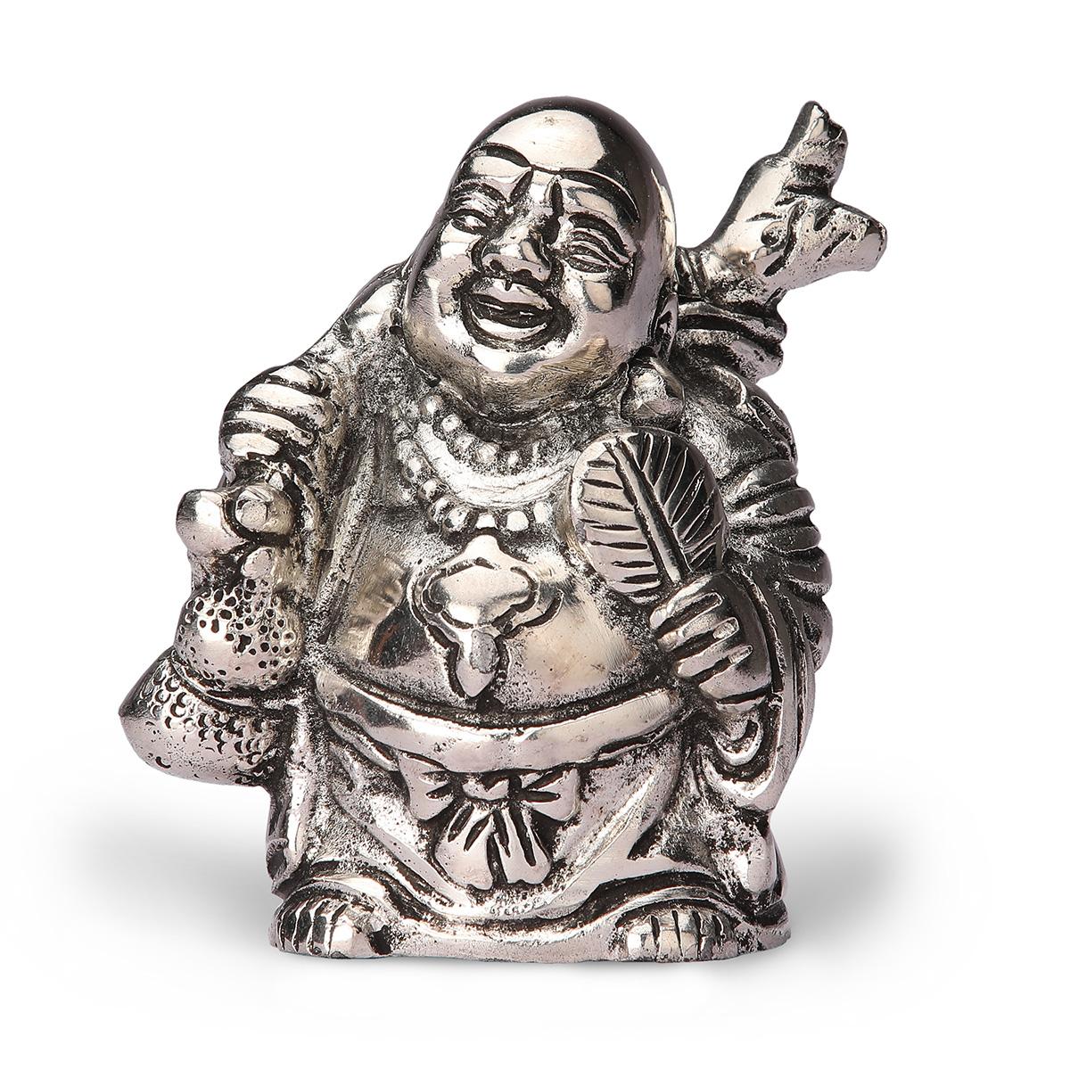 White Metal Laughing Buddah Big