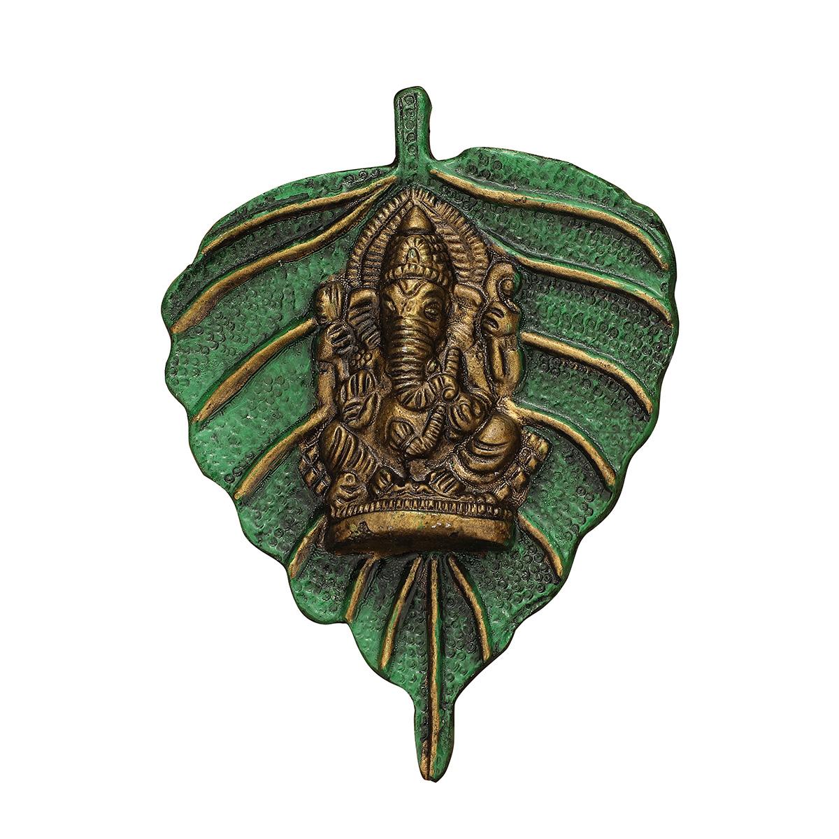 Leaf Ganesha Green Small