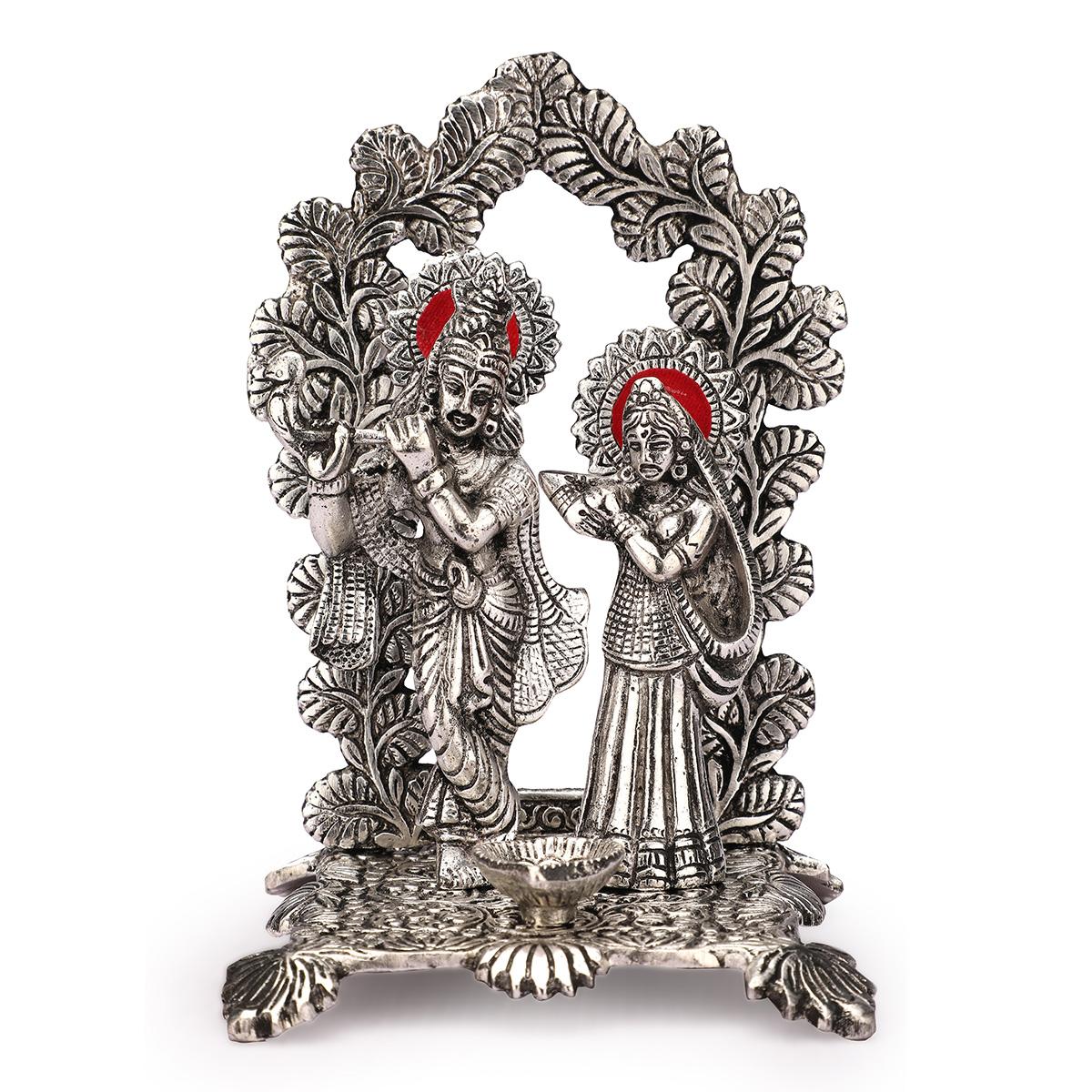 Radha Krishna Frame Silver