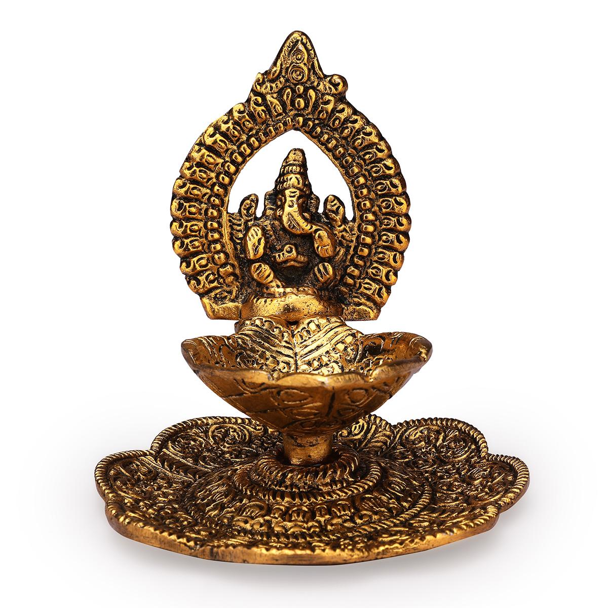 Ganesh Hand Deepak Gold